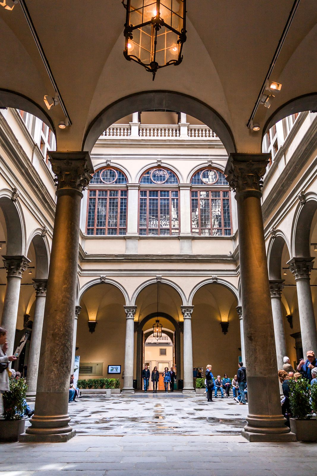 INNER COURTYARD Cortile. Palazzo Strozzi, Florence, Italy