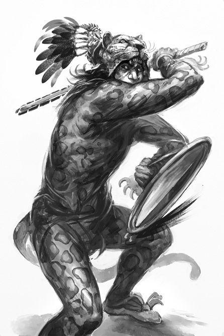 Hillfolk Jaguar Warrior Aztec Art Aztec Warrior Tattoo Aztec Warrior