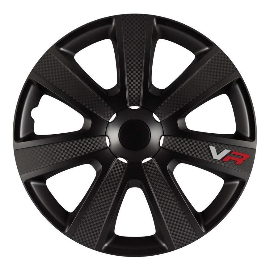 4 Enjoliveurs 16p Carbon Noir Carplus Automotive shops