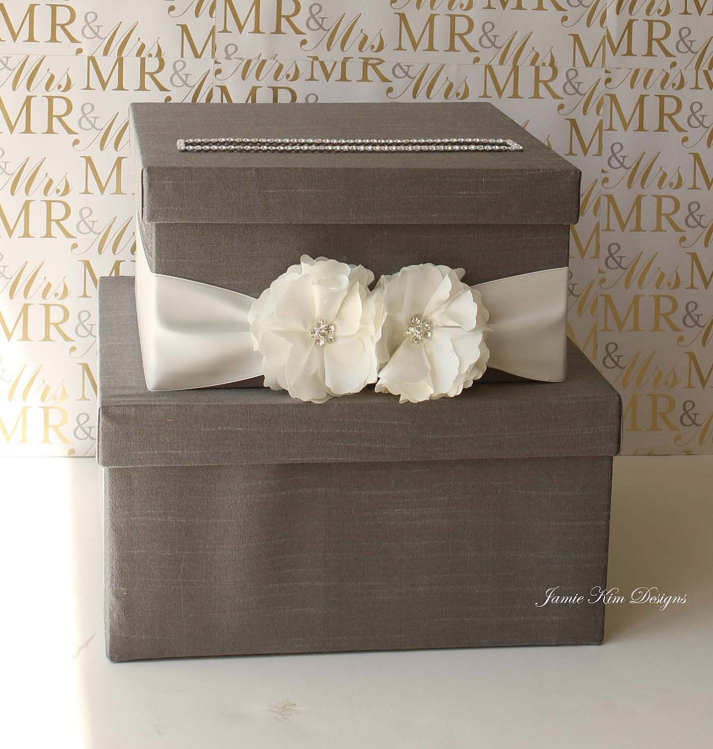 Wedding Card Box Money Box Wishing Well Custom Card Box Wedding
