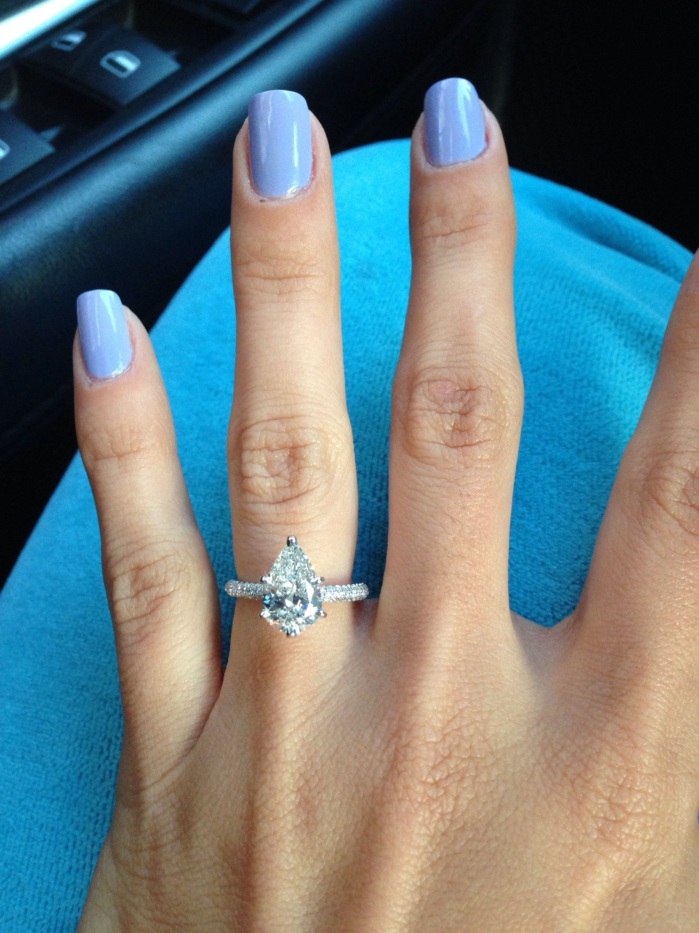 Let 039 S See Your Pear Diamond Rings Weddingbee Engagement Ring Shapes Pear Diamond Rings Unique Engagement Rings