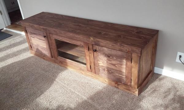 TV Stand with Storage DIY