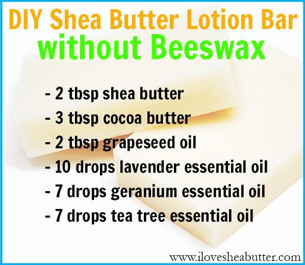 DIY Shea Butter Lotion Bar Recipe without Beeswax