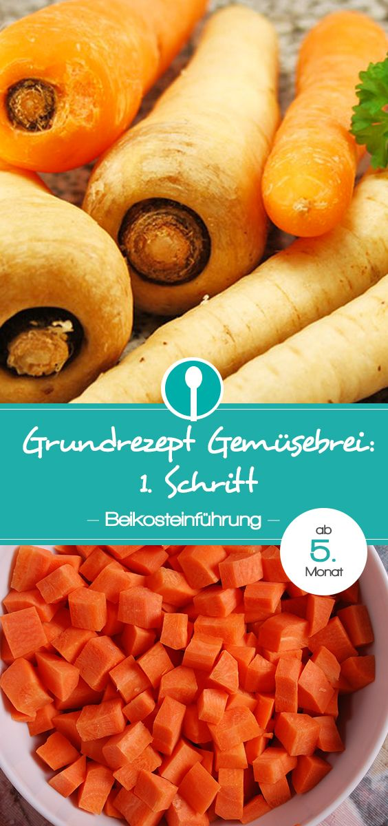 Gemüsebrei für Babys aus Karotten oder Pastinaken für den Beikost-Start