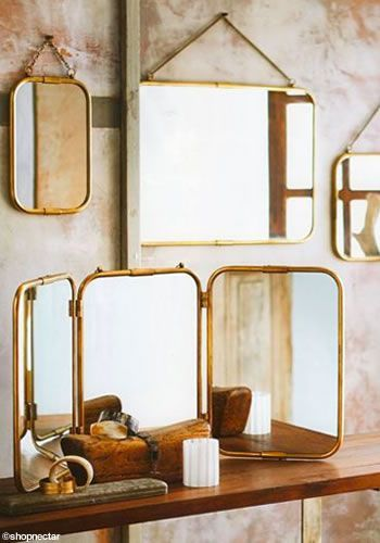 Unique Three Mirrors On Wall