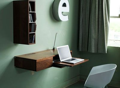 The Ledge A Desk For Small Spaces Tiny Home Office Wall Mounted Desk Space Saving Furniture