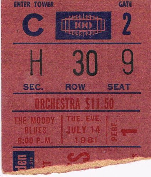 The moody blues madison square garden july 1981 - Paul mccartney madison square garden tickets ...