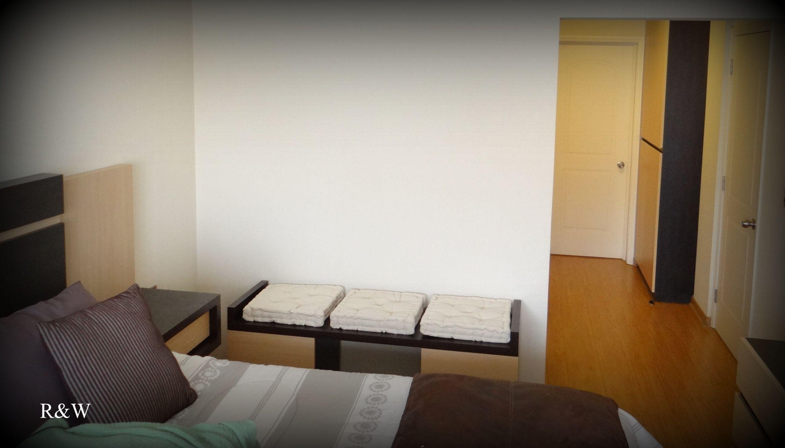 Imagen panorámica de los muebles para dormitorio. 1.- Respaldo cama ...