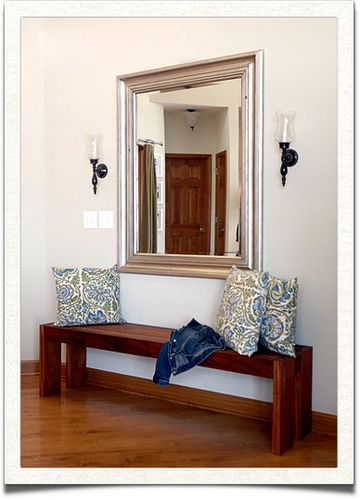 New Hallway Bench with Mirror