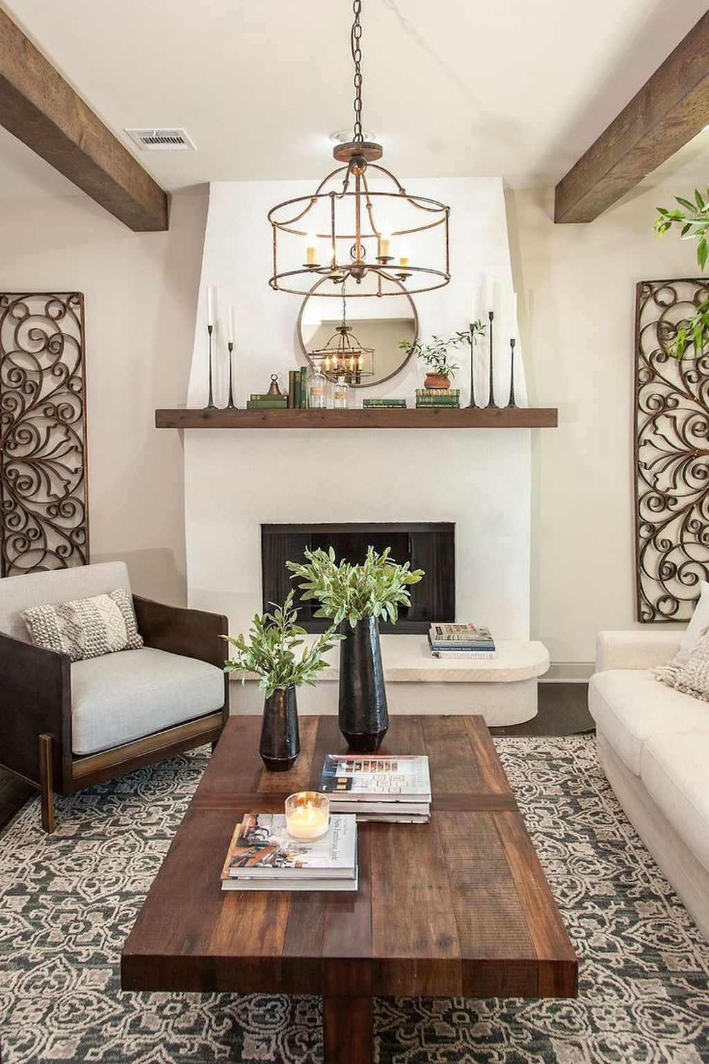 Beautiful Modern Rustic Decor Living Room