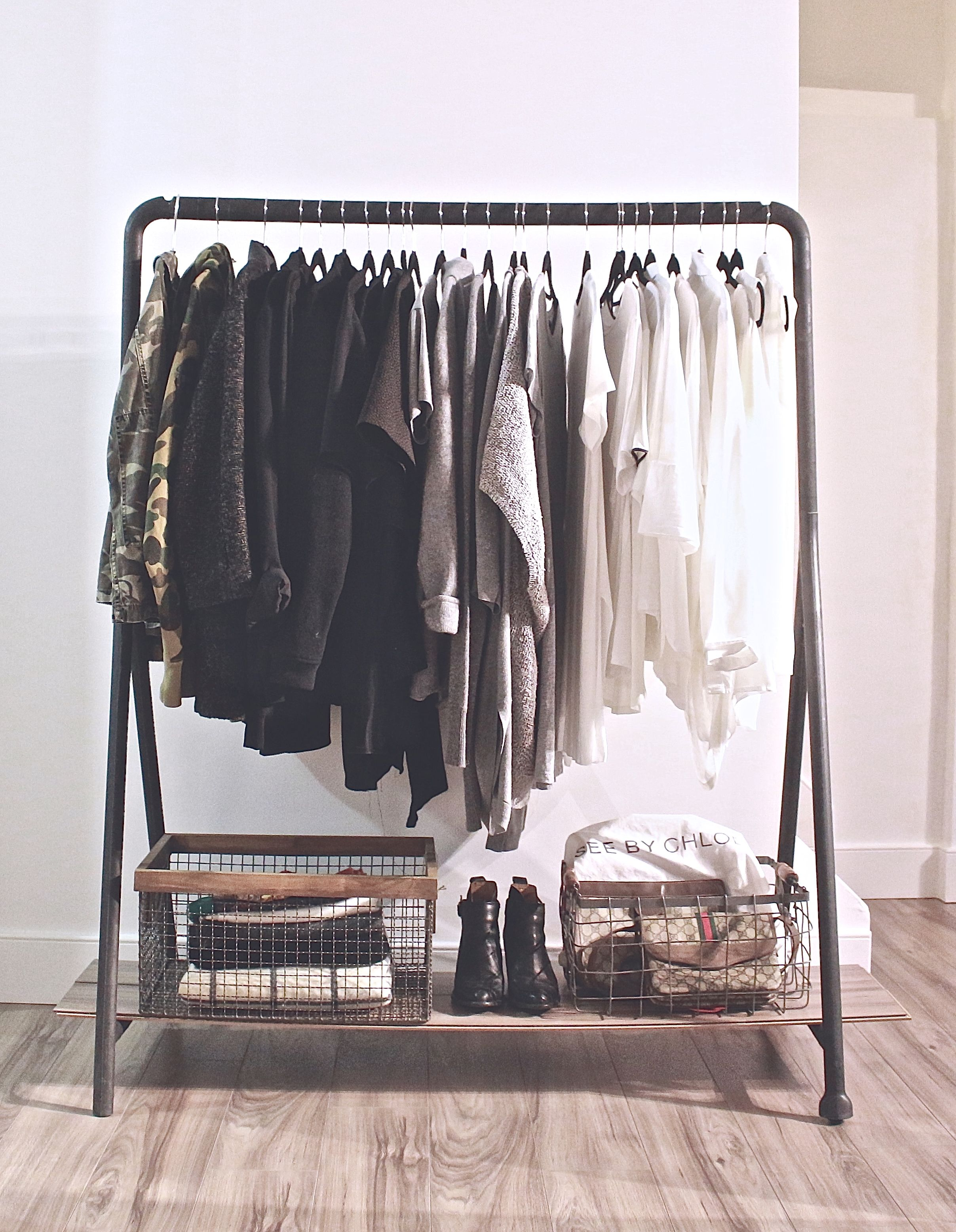 Clothing Rack //wire baskets #homegoods #homesense // ankle boots ...