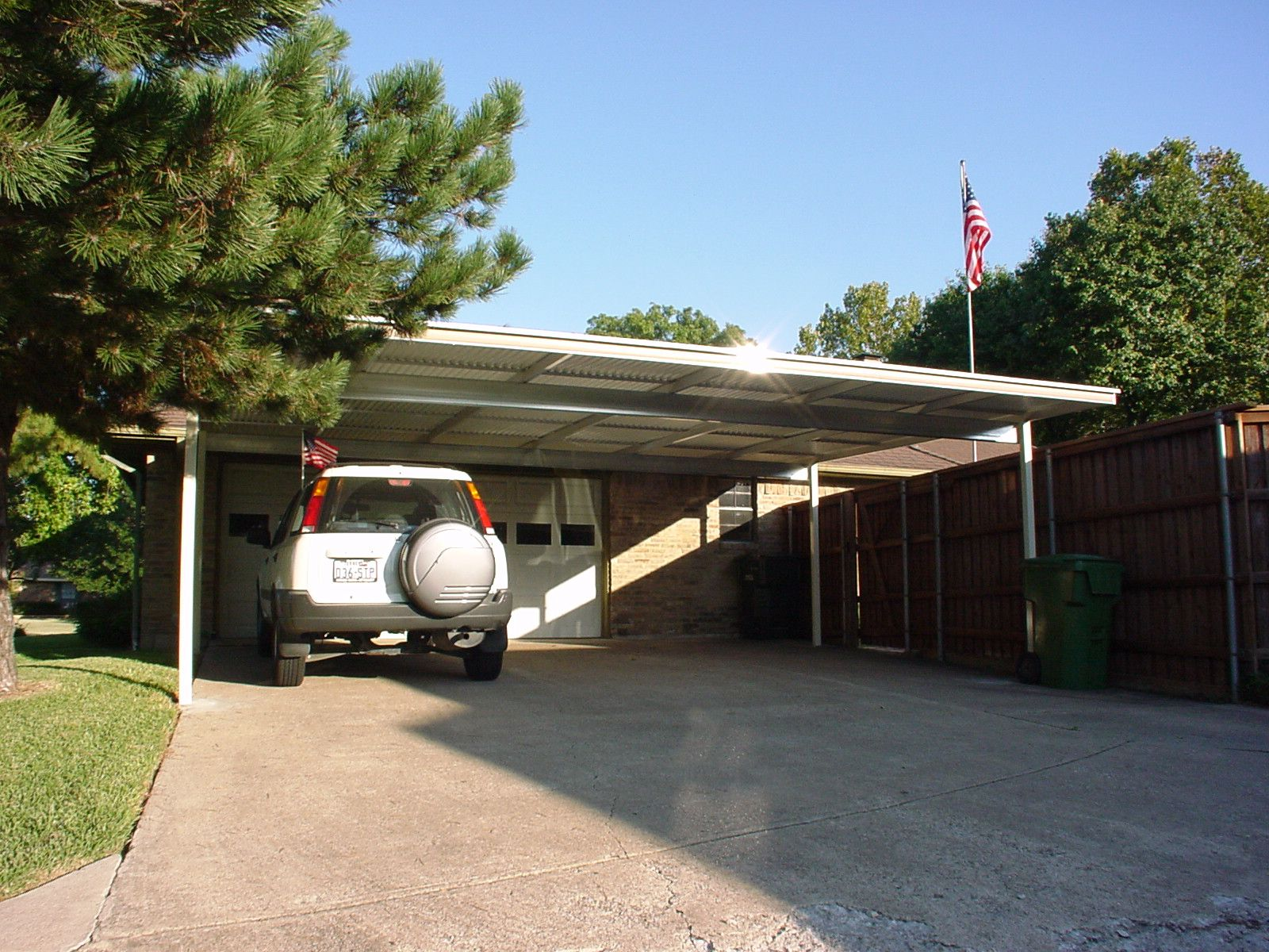 Mhp triple carport aluminum and steel for Metal garage with porch