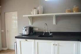 Keuken Zwart Blad : Zwart keuken kvik eigentijdse houten blad zo op het keukenblad is