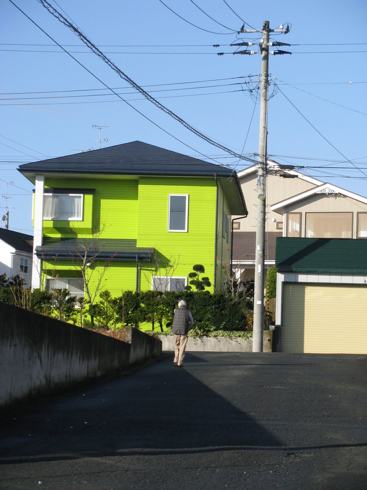 Lime Green House House Colors House Exterior Summer House