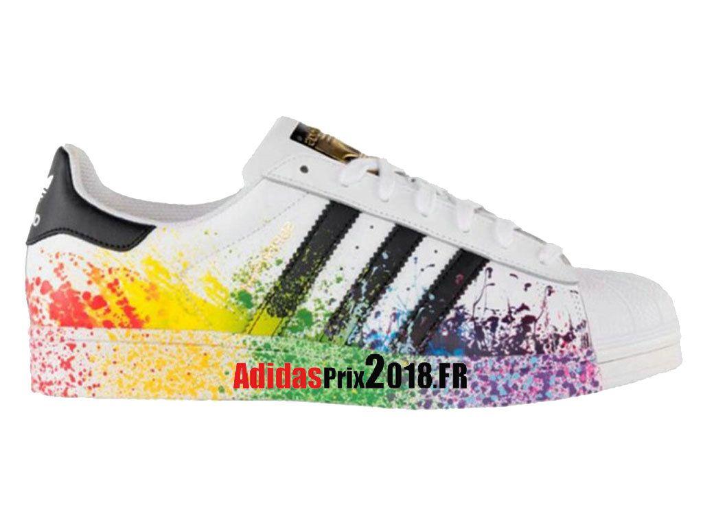 Adidas LGBT Superstar Unisex MulticoloreBlanc D70351