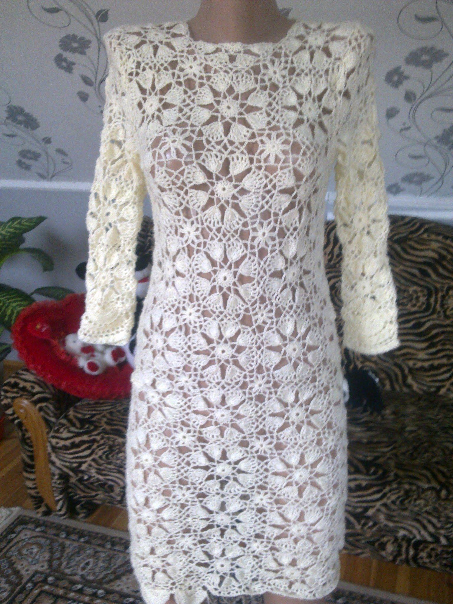 2f564dbd2 modelos de vestidos tejidos a crochet para mujer vestidos tejidos a  ganchillo…