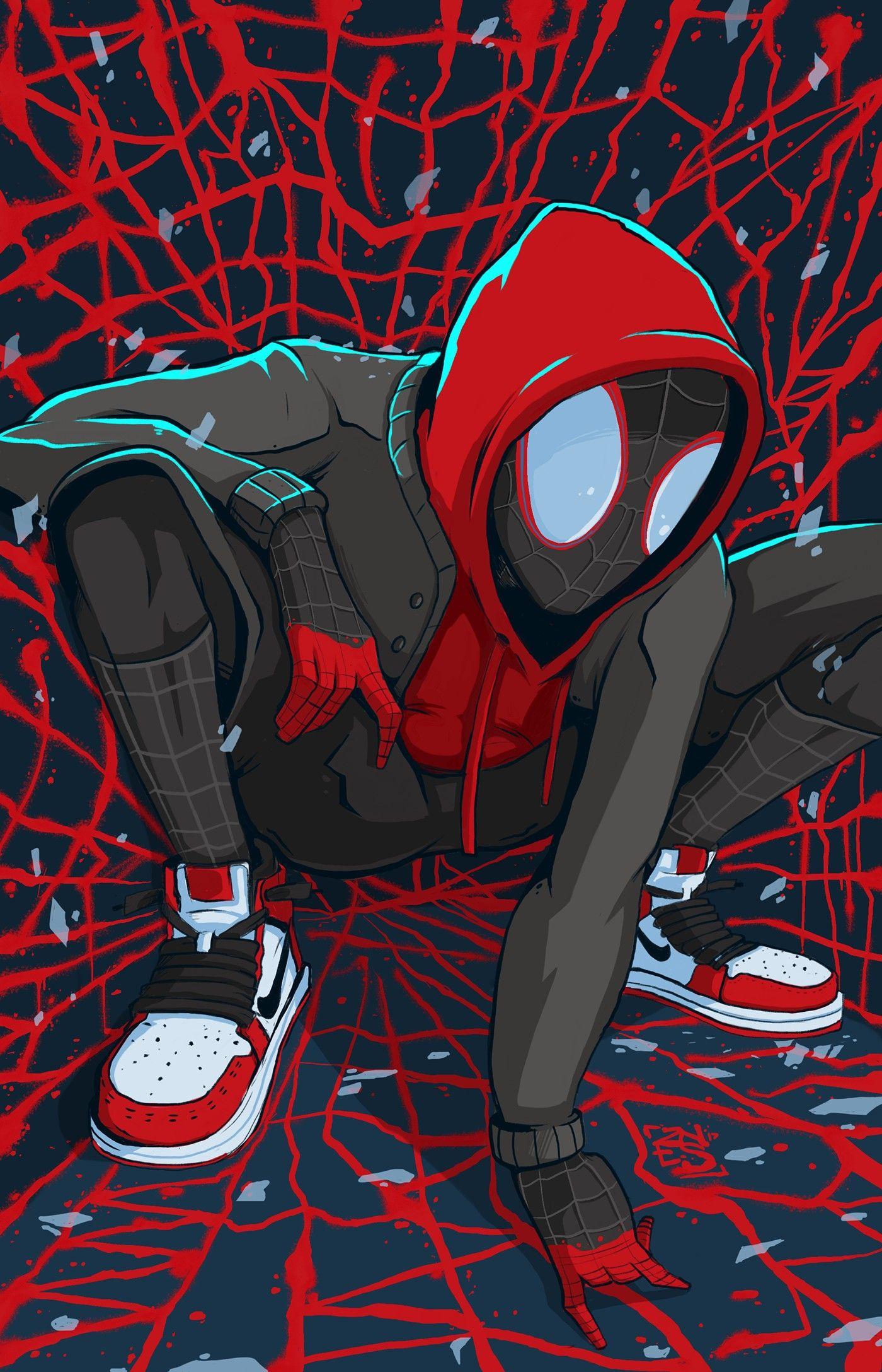 Miles Morales Ultimate Spider Man Iphone Wallpapers Spiderman