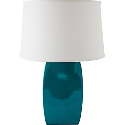 RiverCeramic Soft Rectangle Gloss Ocean Table Lamp - Style # 13V43 ...