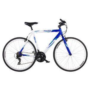 Barracuda Men S Vantos Road Bike White Blue Wheel 700c Frame