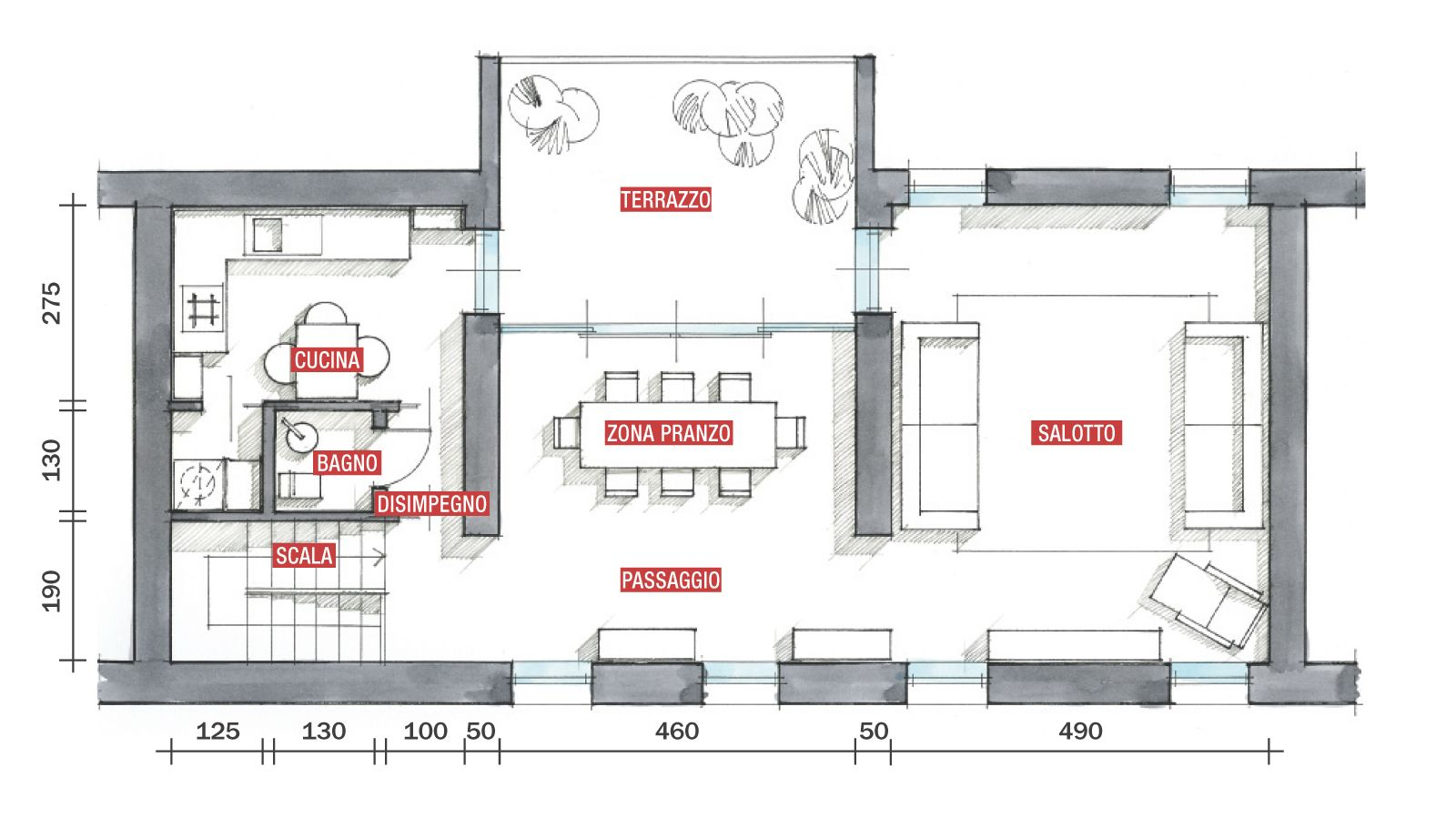 Planimetria Casa Con Misure progetti case su due piani | progetto casa, case, case