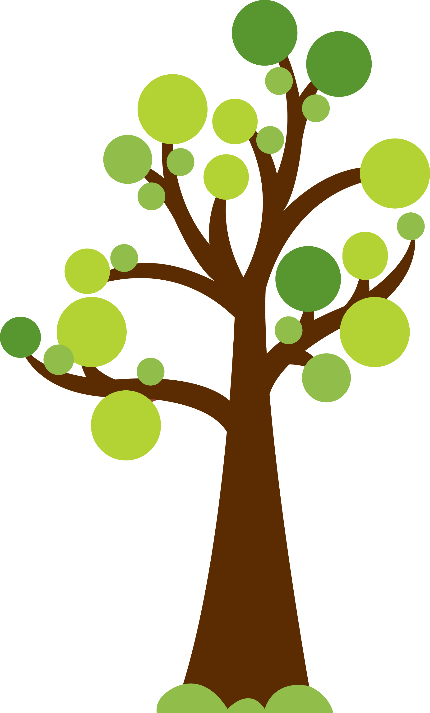 Tree with circles for leaves cute image for summer or for Garden design graphics