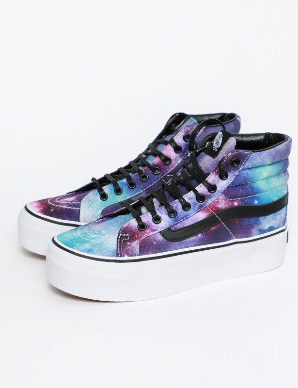 101b80020c53 Vans sneakers SK8-HI Platform cosmic galaxy black
