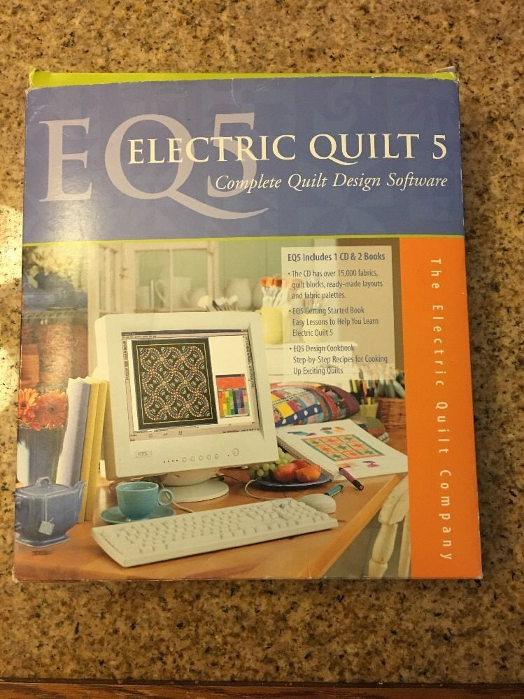 Electric Quilt 5 Complete Design Software Eq5 Cd 2 Books Likes Electric Quilt Quilting Designs Design