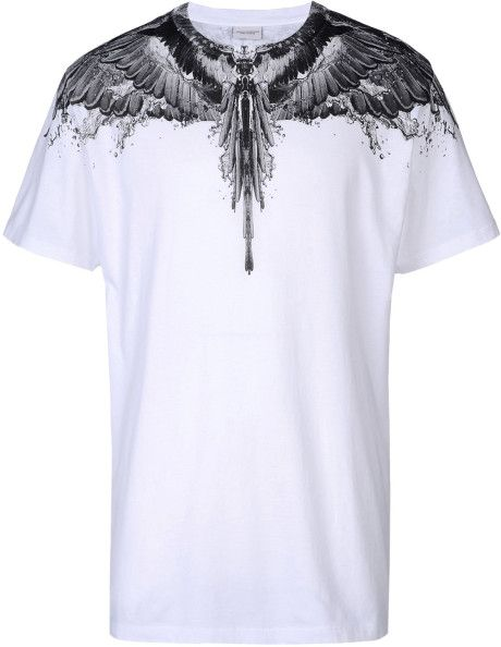 7da75301 MARCELO BURLON White Short Sleeve Tshirt | TOPS di 2019 | Shirts, T ...
