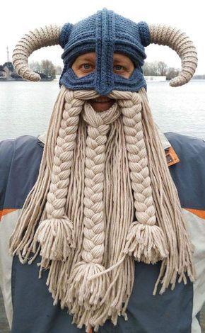 Crochet Viking hat and balaclava with braided beard  05457b77152