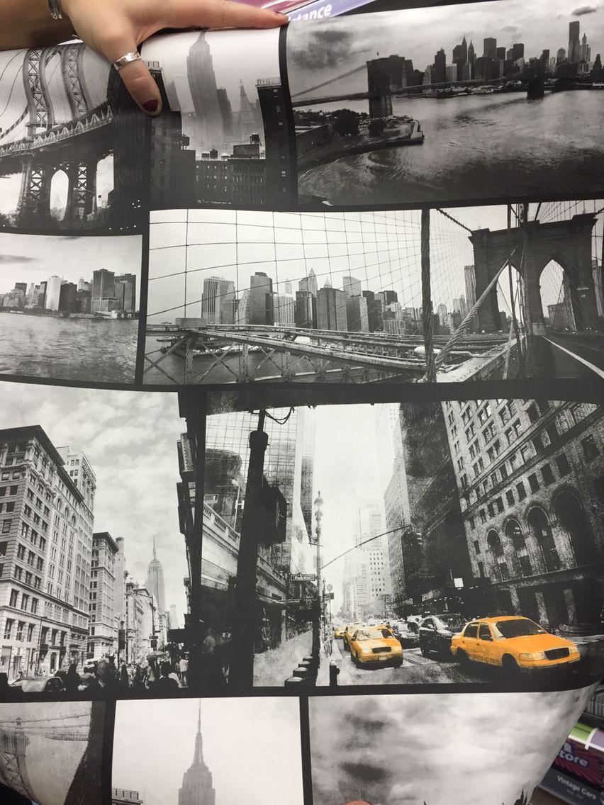 New York Wallpaper B M 5 99 50m New York Wallpaper York Wallpaper Gold Wallpaper