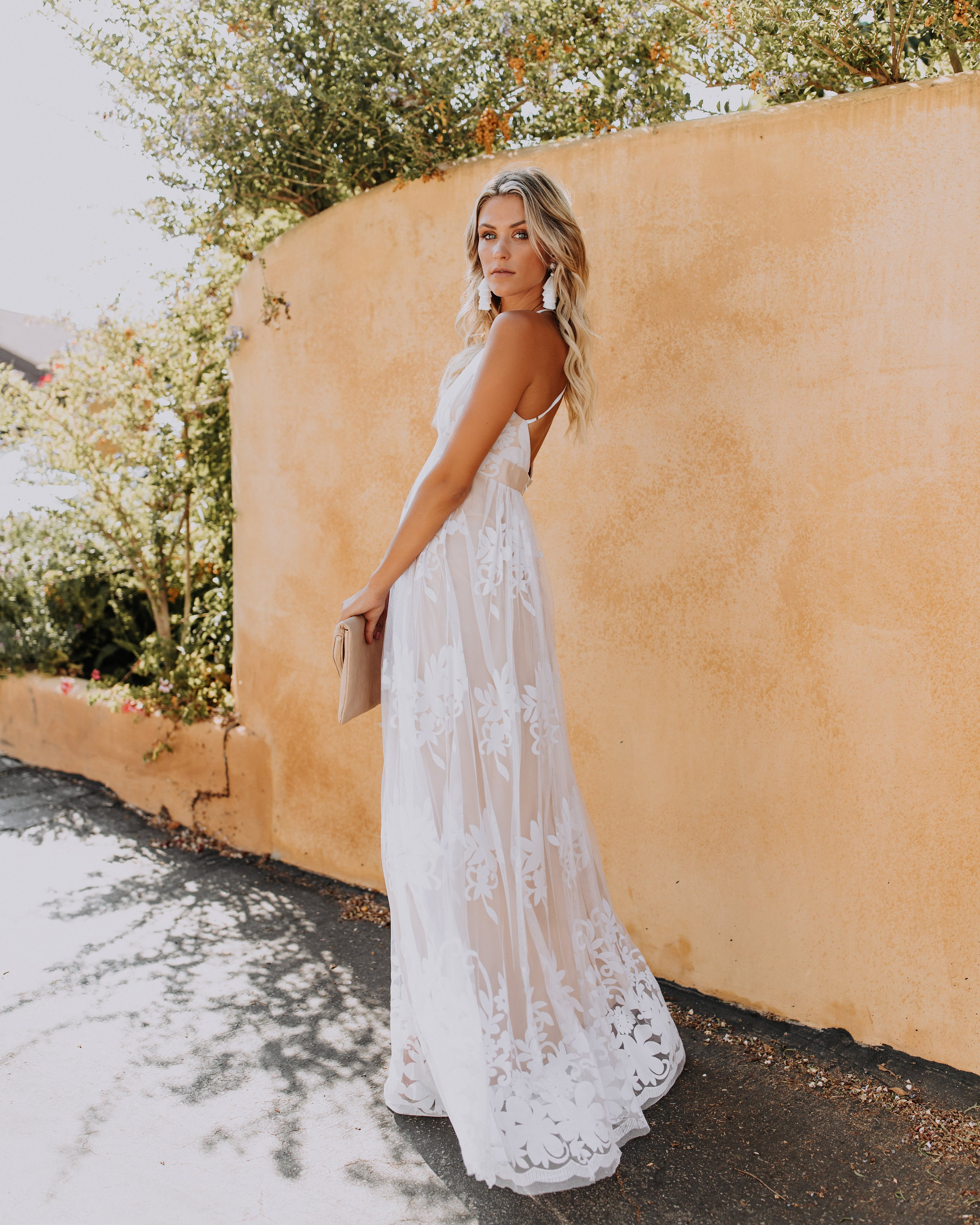 6a9740eaff1 PREORDER - Antonia Maxi Dress - White in 2019