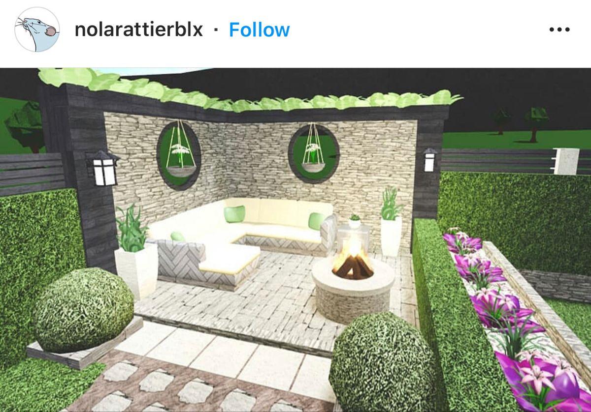 Pin On Roblox Modern backyard ideas bloxburg