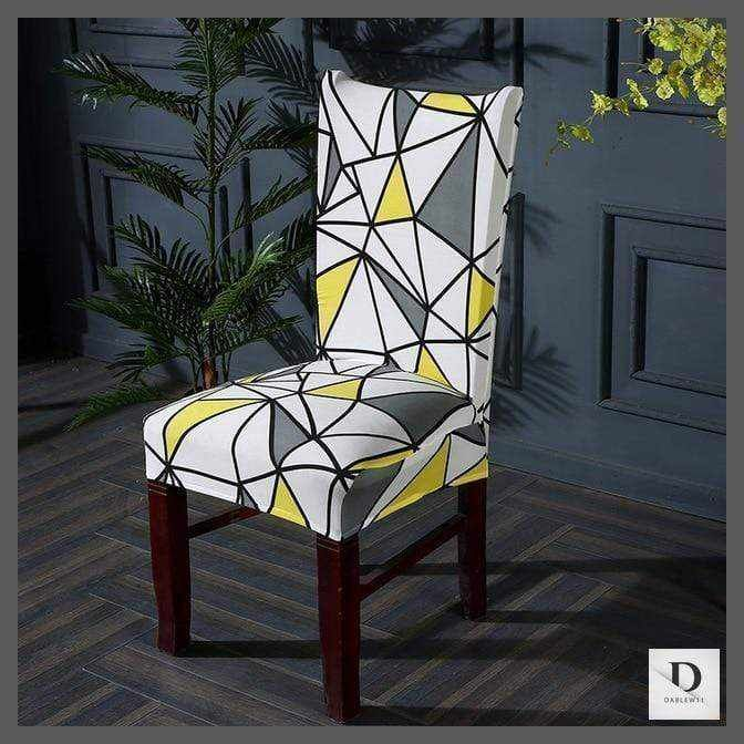 Photo of Fundas de asiento de silla elásticas de estilo geométrico