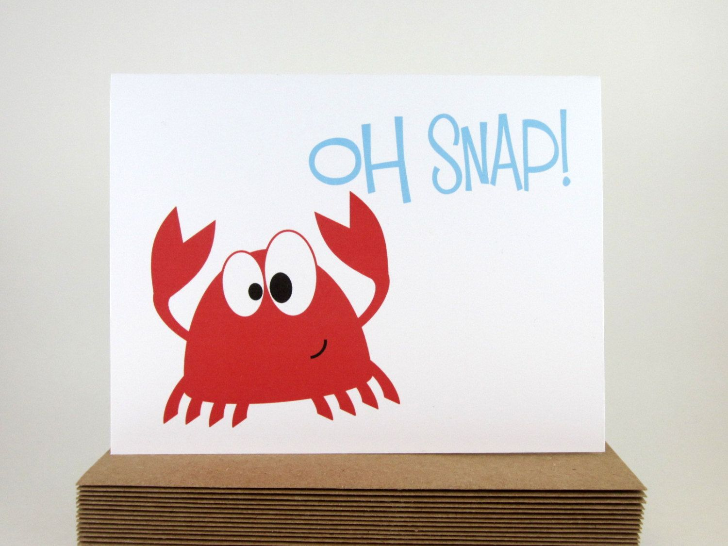 Red Crab Nautical Baby Shower Card Funny Card For Kids All Occasion