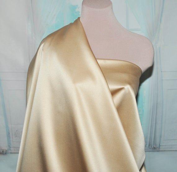 Duchess satin Fabric 60  GOLDEN SAND . bridal, formal, pageant, suits , home decor..wedding...craft #duchesssatin