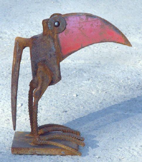 Scrap metal sculpture bird by chris kircher vogelskulptur aus stahlschrott von chri chris - Gartenskulpturen metall ...