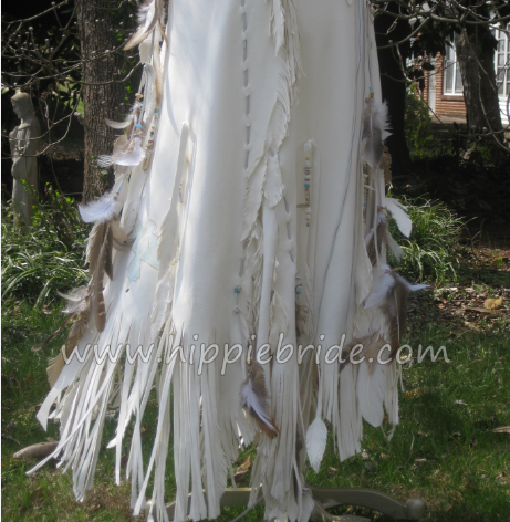 Detail Of Native American Inspired Wedding Dress By Hippie Bridehandmade And One