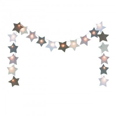 Guirlande étoile lumineuse Numéro74 beige Déco