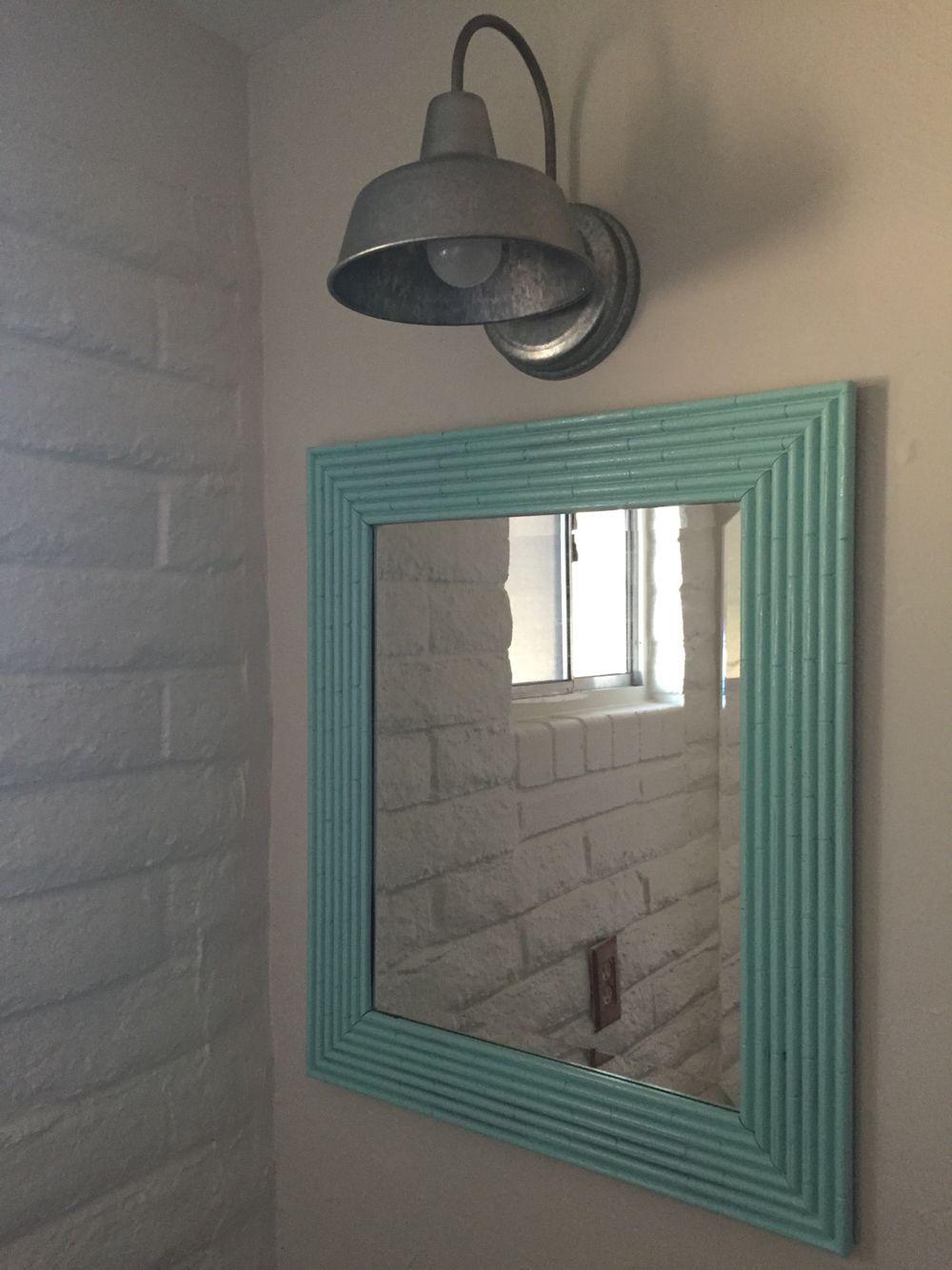 Colorful bathroom mirror