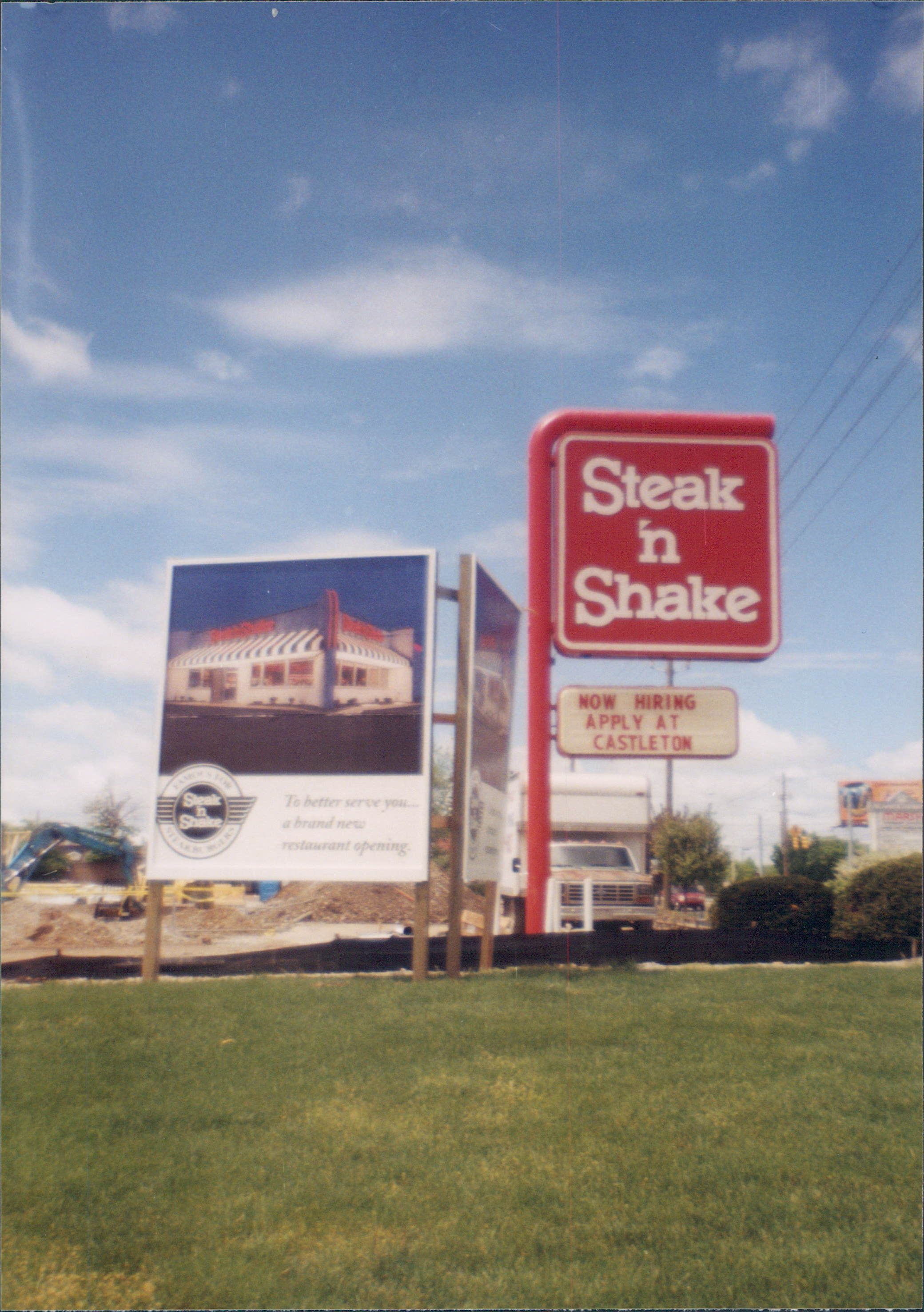 Steak N Shake Steak, Shakes, Highway signs