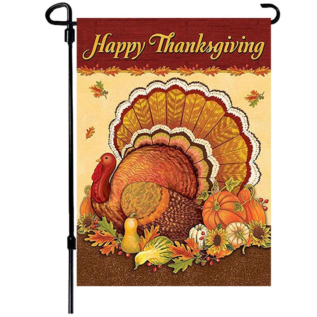 Thanksgiving Love Harvest Garden Banner Home Decoration Banner 70x100cm 263 In 2020 Happy Thanksgiving Turkey Thanksgiving Flag Thanksgiving Paper