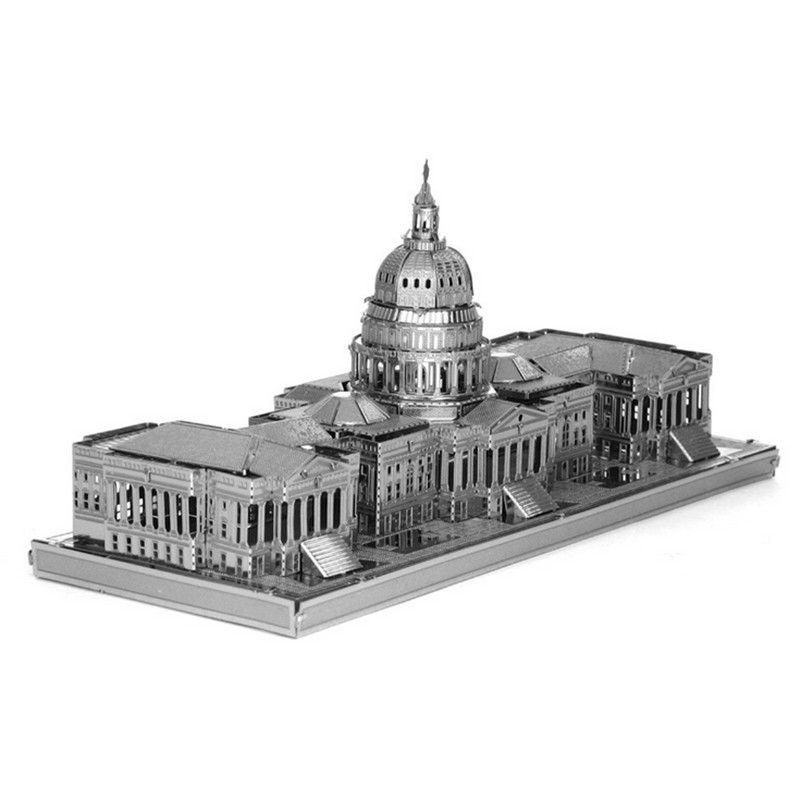 capitol hill 3d metal puzzle diy model grand building capitol hill puzzle metal assembly models