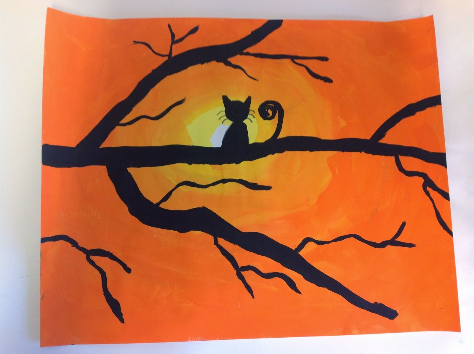 Cat Silhouette Sunsets 5th grade Cat silhouette, Mom