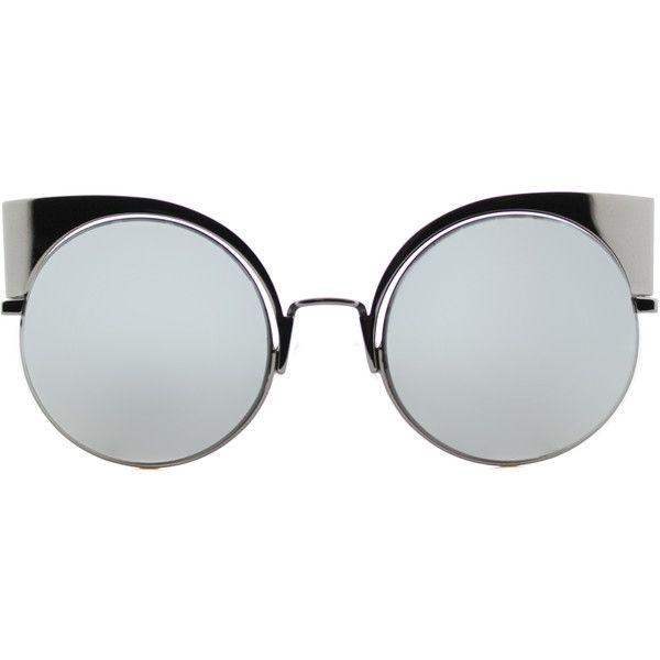 ede681ba50a Fendi Eyeshine FF 0177 KJ1 Dark Ruthenium Cat-Eye Metal Sunglasses ( 390) ❤