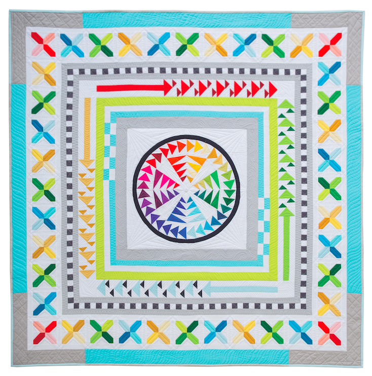 Migration Medallion quilt by Better Off Thread