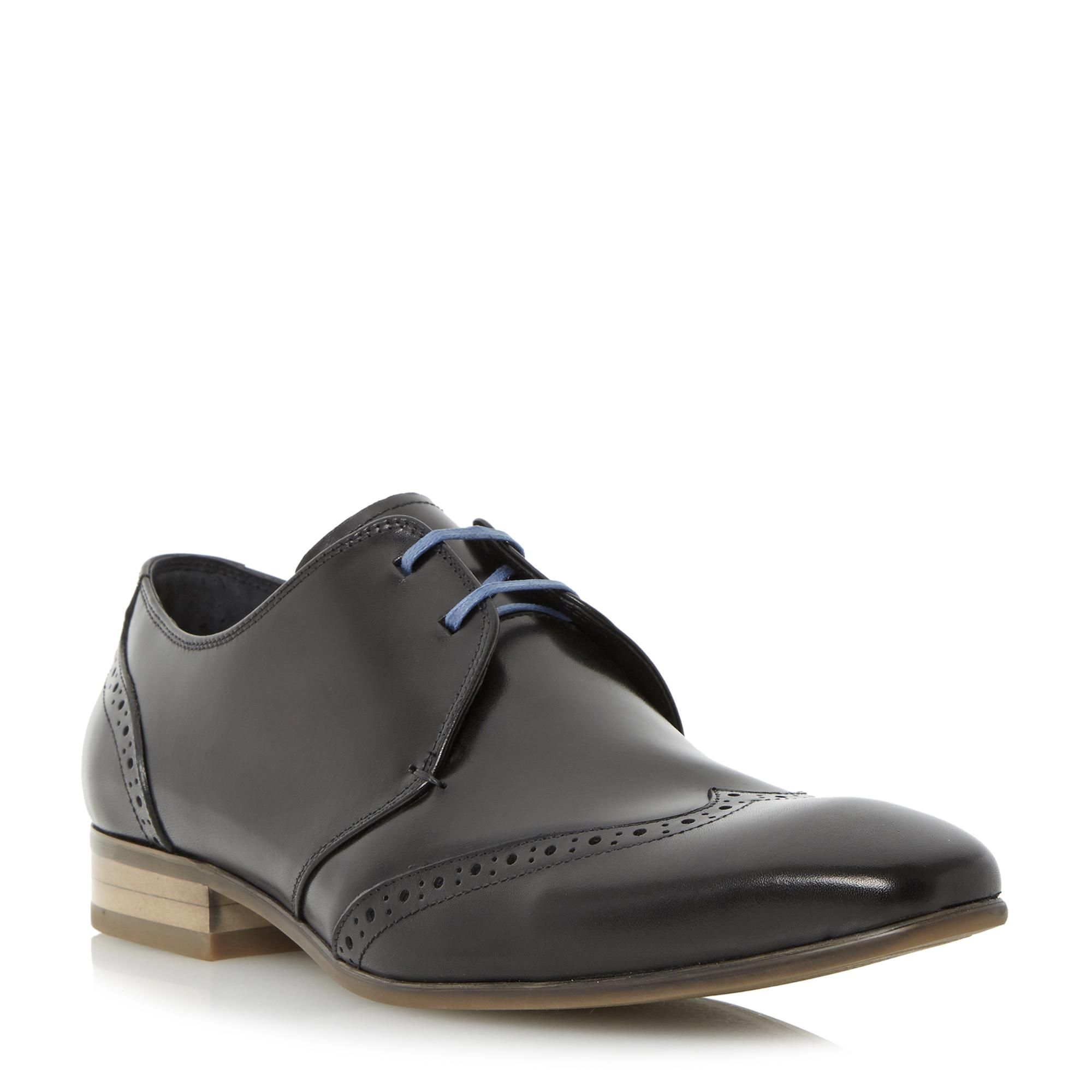 b48ff86aefd74b DUNE MENS ROSCOE - Leather Two-Eye Wingtip Derby Shoe - black   Dune Shoes  Online US11 UK10
