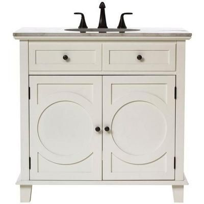 Home Decorators Collection Hudson 36 in Vanity in White with