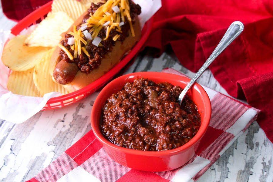 Jamie S Doggone Good Hot Dog Chili Recipe Hot Dog Chili Hot Dogs Hot Dog Recipes