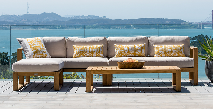 Terra Outdoor Living, Teak Sectional Patio Furniture