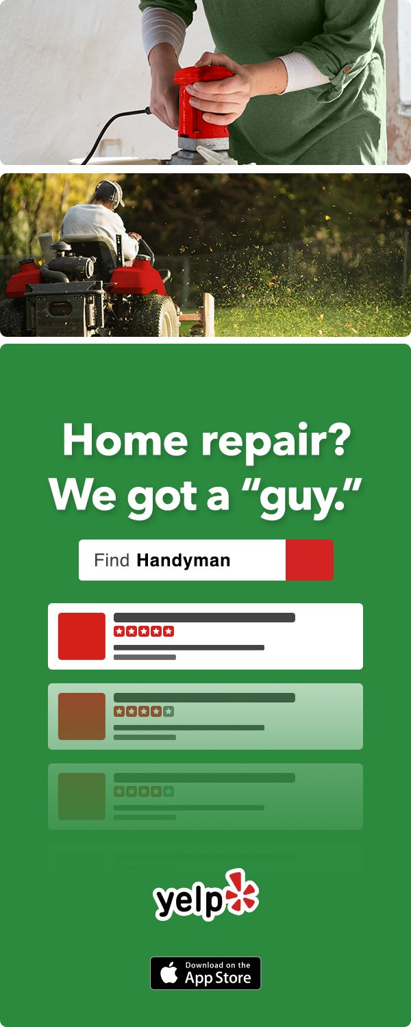 Need home repairs but not the handyman type? Yelp has tons